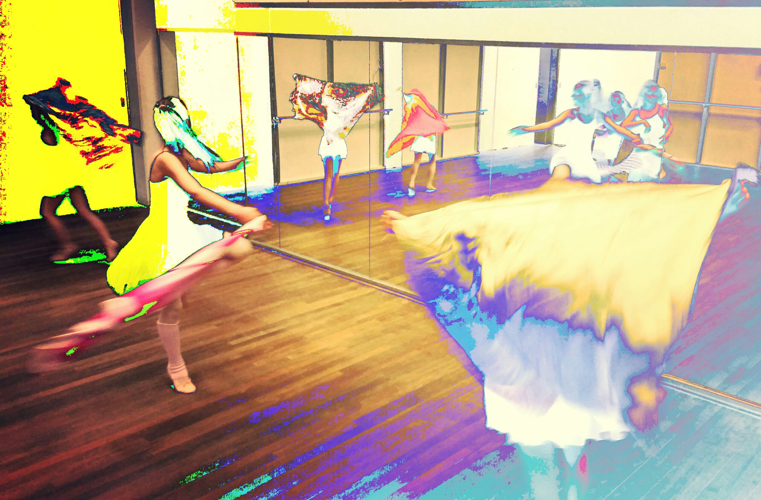Dansen met doeken kleur